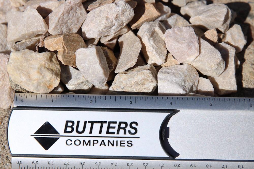 """1"""" Gravel (Structural Rock – Quartzite) fractured metamorphic rock composed of quartz"""