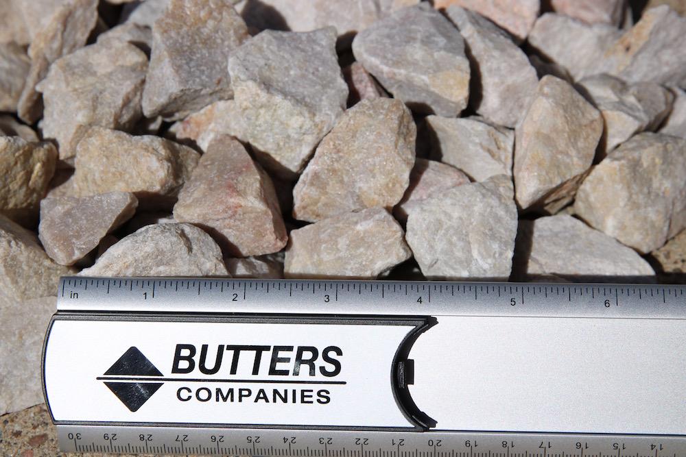 """1-1/2"""" Gravel (Structural Rock – Quartzite) fractured metamorphic rock composed of quartz"""